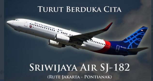 Pesawat Sriwijaya Air di Duga Terjun Bebas dari Ketinggian 10.000 ft ke 250 ft